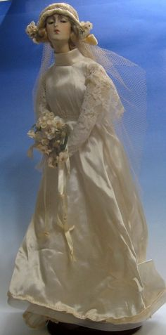 1920's bride boudoir doll