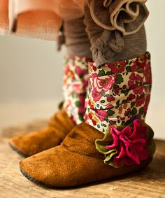 Love this Gracious May Brown & Pink Betsy Boot by Gracious May on #zulily! #zulilyfinds