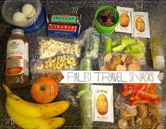 Paleo snacks for traveling .we aren't a paleo family, but this just looks like food to me. High Protein Snacks, Healthy Snacks, Healthy Recipes, Paleo Meals, Paleo Food, Quick Snacks, Healthy Options, Stay Healthy, Healthy Smoothies