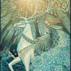 Selene Lunar Goddess 8x10 Fine Art Print Pagan Mythology | Etsy Holly King, Goddess Art, Moon Goddess, Pagan Art, Fine Art Prints, Poster Prints, Etsy, Cernunnos, Art Paintings