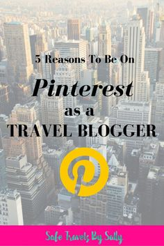5 Reasons To Be On Pinterest As A Travel Blogger. Pinterest is such a powerful social media platform, especially for travel bloggers who are looking to grow their traffic and start monetizing. Click here to read more about the power of Pinterest!