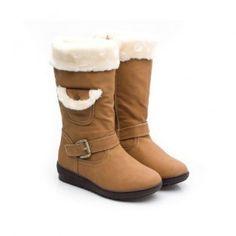 W-COCO-3 Women Flat Heel Mid-Calf Boot - Camel