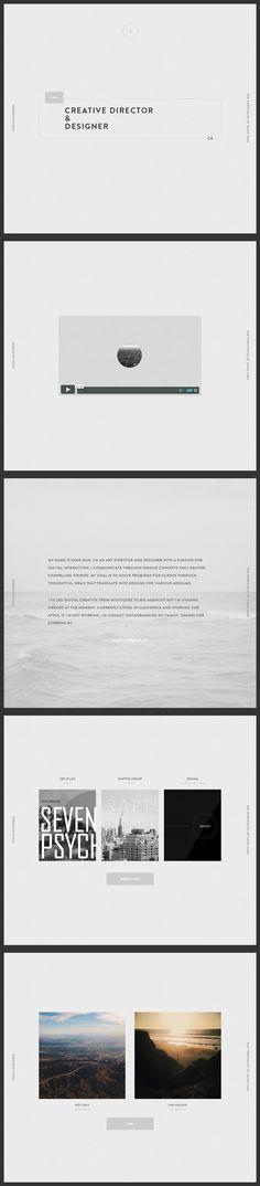 Sang Han // web design by Sang Han Web Design Awards, Web Ui Design, Site Design, Website Layout, Web Layout, Layout Design, Website Ideas, Interaction Design, Web Portfolio