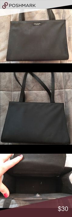 Kate Spade Purse - Black This black purse has a few marks on the inside and is worn in a few areas but overall in great shape! Make me an offer! kate spade Bags Shoulder Bags
