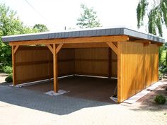 Wood Carport Ideas In The Backyard