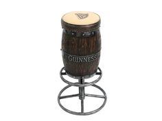 JJ Dark Wood Effect Guinness Barrel Bar Stool Cushion Any Name Available