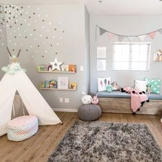 Such a lovely playroom decor!  @caitsroom via @projectnursery https://www.instagram.com/p/BevYSvjBW8L Follow us @mysleepymonkey for more kid's room and nursery inspiration!