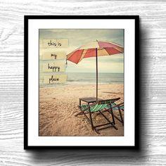 this is my happy place 8x10 nautical beachy beach by Printpressfmt