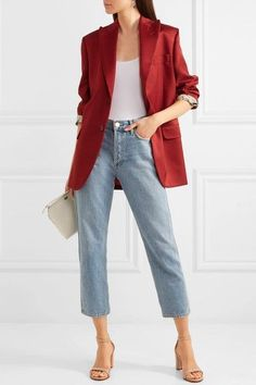 Latest Jeans For Girls, Chic Outfits, Fashion Outfits, Inspired Outfits, Yoga Pants Outfit, Braut Make-up, Professional Outfits, Look Cool, Fashion Clothes