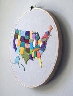 Embroidery map