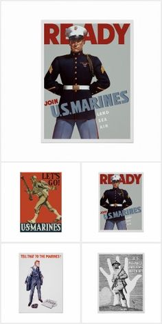 POSTER DEVIL DOGS GERMAN NICKNAME FOR US MARINES CORPS VINTAGE REPRO FREE S//H