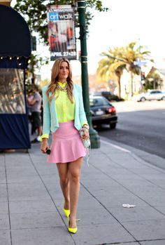Four Ways to Wear: Pastels   Neon