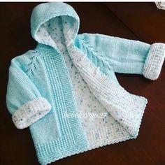 @orgudelisiyiz auf Instagram: ows Bebe Klosowski.orgu.27 onelinize saglik org Knit Or Crochet, Crochet For Kids, Crochet Baby, Knitted Baby Cardigan, Cardigan Pattern, Easy Baby Knitting Patterns, Baby Sweaters, Happy Sunday, Baby Dress