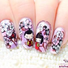 Photo by iiNailsArt(iinailsart): Chinese nail art