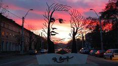 "Eye-catching metal sculpture entitled ""Mihai Eminescu,"" seen on a main street in Onesti, Romania Louise Bourgeois, Robin Wight, Performance Artistique, The River, Street Art, Tachisme, Land Art, Public Art, Oeuvre D'art"