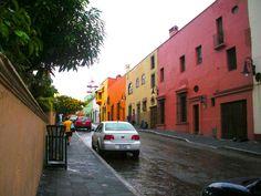 Beautiful street in Cuernavaca, Morelos, Mexico