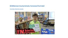I was looking into social media for public school districts and this school made the cut on this skyward.com list. Williamson County Schools in Tennessee does a week in review video that highlights different things that all the schools have done throughout the week to let parents know what is going on and to create a cool video for students. This is a great idea for videos that keep the stakeholders up-to-date on the latest​ news surrounding the school district.