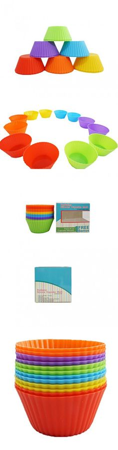 SYE Reusable Silicone Baking Cups, Cupcake Liners, Muffin Cups - Non-Stick, Heat Resistant (Up to Cake Baking Molds, Food Grade Baking Cups, Cake Baking, Cupcake Liners, Muffin Cups, No Bake Cake, Food Grade