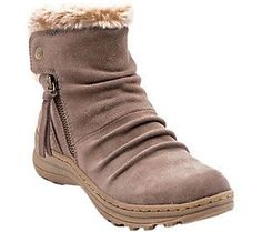 ad1274742e5 BareTraps Water-Resistant Suede Ankle Boots - Amelya