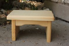 instructions for wooden foot stool