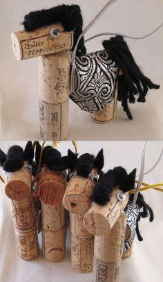 caballos de corcho