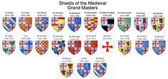 Shields of the medieval Grand Masters of Knights Templar