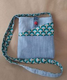 Crossbody Denim Bag, Upcycled Recycled Denim, Cactus Fabric, Handmade Purse, Fabric Bag, Multi Pockets by Beedaya on Etsy https://www.etsy.com/listing/464885496/crossbody-denim-bag-upcycled-recycled
