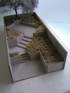 Brownstone Garden scale model; Model & Photo: Philip M. Tusa.