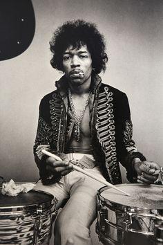 Jimi Hendrix à la batterie