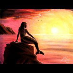 Mermaid on the Rock. Pastel on Paper. Soft Pastel Art, Pastel Drawing, The Rock, Insta Art, New Art, Art Gallery, Mermaid, Artsy, Selfie