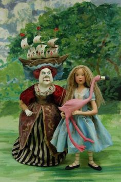 by Nancy Wiley Lewis Carroll, Alice In Wonderland Figurines, Alice In Wonderland Costume, Inspiration Artistique, Alice Madness Returns, Adventures In Wonderland, Cute Illustration, Art Dolls, Illustrators