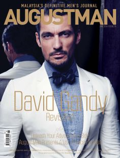 David Gandy for August Man Malaysia, June 2014. Full cover - print version. Shot in NYC. Photographed by Chiun-Kai Shih. Styled by Marcus Teo