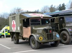 WW2 ambulance now sporting JSO 307 plate.