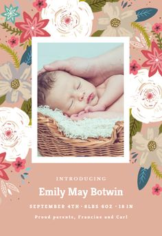 74 best birth announcement templates images on pinterest in 2018