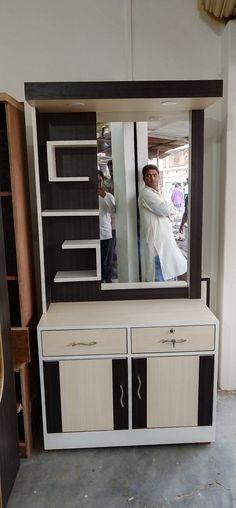 Wardrobe Design Bedroom, Bedroom Bed Design, Bedroom Furniture Design, Bed Furniture, Wooden Furniture, Bedroom Decor, Simple Dressing Table, Bedroom Dressing Table, Dressing Table Design