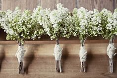 honestly liking the babys breath bouquets.