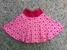 Kinderrock, Rock, Gr. 92/98, Jersey, Sterne von kleine Kuschelrobbe auf DaWanda.com