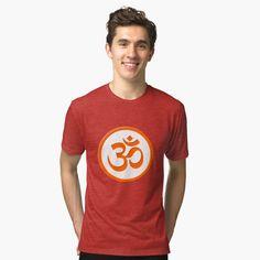 Meditation Symbols, Om Symbol, My T Shirt, Chiffon Tops, Yoga, Printed, Awesome, Mens Tops, Shirts