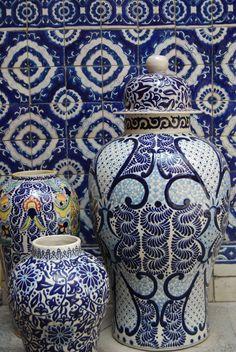 Mexican decor: the wonderful Talavera Poblana - handmade art from Puebla #Mexico. Divine!