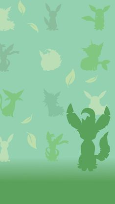 Leafeon. Tap for more Pokemon Pattern Wallpapers for iPhone 5/5s. iPhone 6/6 Plus. - @mobile9 #pattern #backgrounds #pokemon