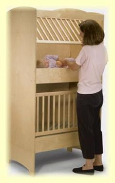 twin crib   @Heather Knight, here ya go a real spacesaver!  ha!  We had these in our church nursery when i was a teen!  LOL