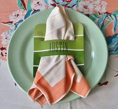 Paint Chip Style Place Cards Napkin Rings for by GrahamAndOlive, $18.00