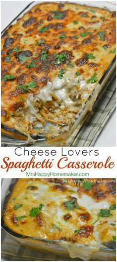 You have never had a spaghetti casserole better this this one! It's layered with an easy mozzarella cheese sauce that takes it over the top. DELICIOUS!
