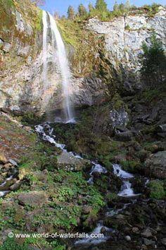 La Grande Cascade du Mt-Dore from the footbridge Puy de Dome, Auvergne, France