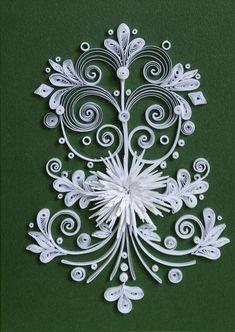 neli: Quilling card - white