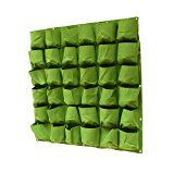 Vertical Wall Garden Planter 36 Pockets Wall Hanging Planting BagsWall Mount Planter Solution ( 40 in x 40 in ) (36Pocks)