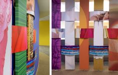 Fabric weave graphic wall--to set off/sound protect the activity zone?