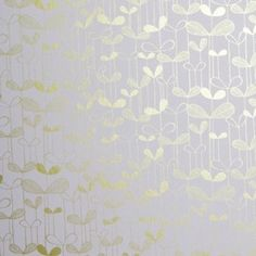SAPLINGS White with Gold wallpaper