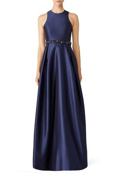 Rent Navy Jadore Gown by ML Monique Lhuillier for $95 only at Rent the Runway.