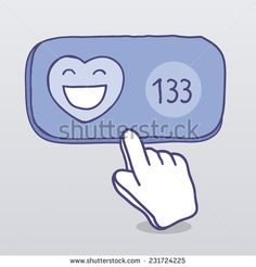 Like. Communication in social media - stock photo